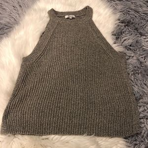 Madewell Grey Marled Valley Sweater Tank Top